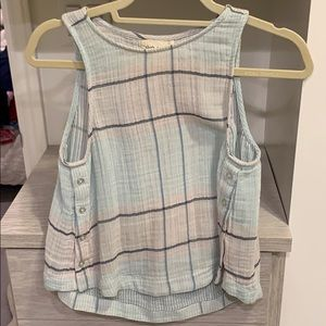 Blue Anthropologie Sleeveless Crop Top XS